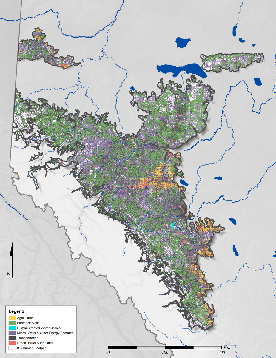 Water Bodies Map Of Canada.Foothills Natural Regions